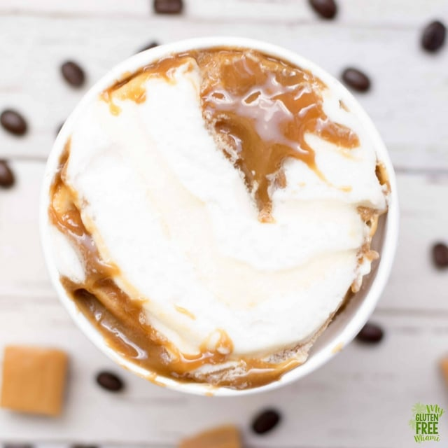 perfectlyfree caramel cafe overhead shot