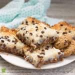 plate of gluten free oatmeal magic bars