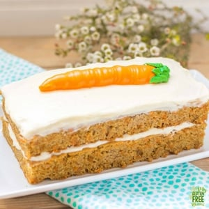 gluten free carrot cake with carrot cake