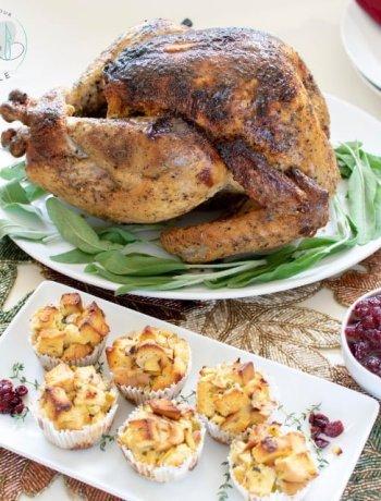 whole gluten free turkey with gluten free stuffing muffins