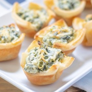 Gluten Free Spinach Dip Puff Pastry Tarts