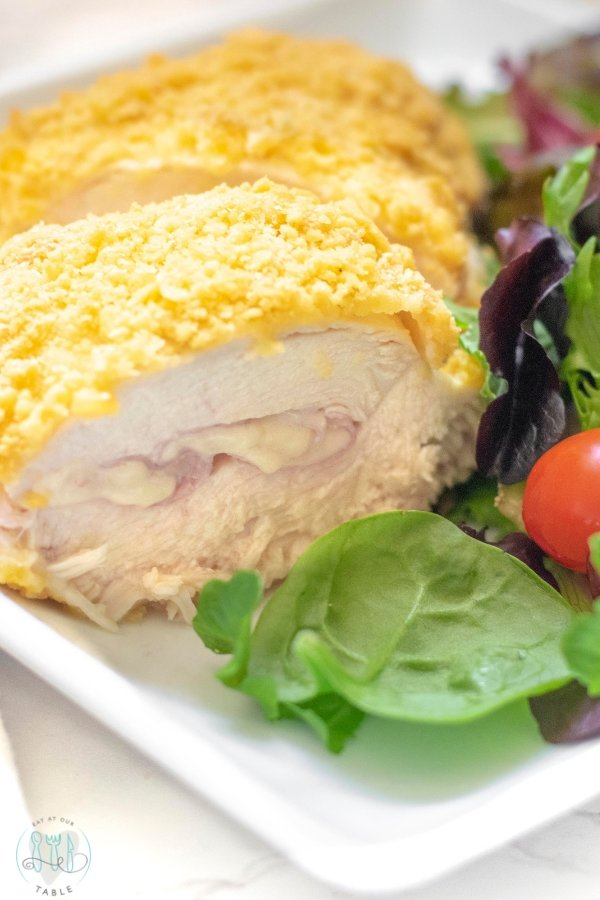 Gluten Free Cheesy Chicken Cordon Bleu