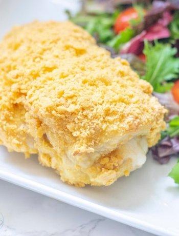 Whole piece of cheese chicken cordon bleu