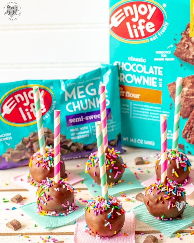 enjoy life foods products with gluten free brownie pops