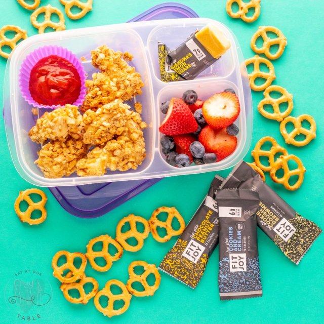 grain free pretzel crusted chicken nuggets lunch