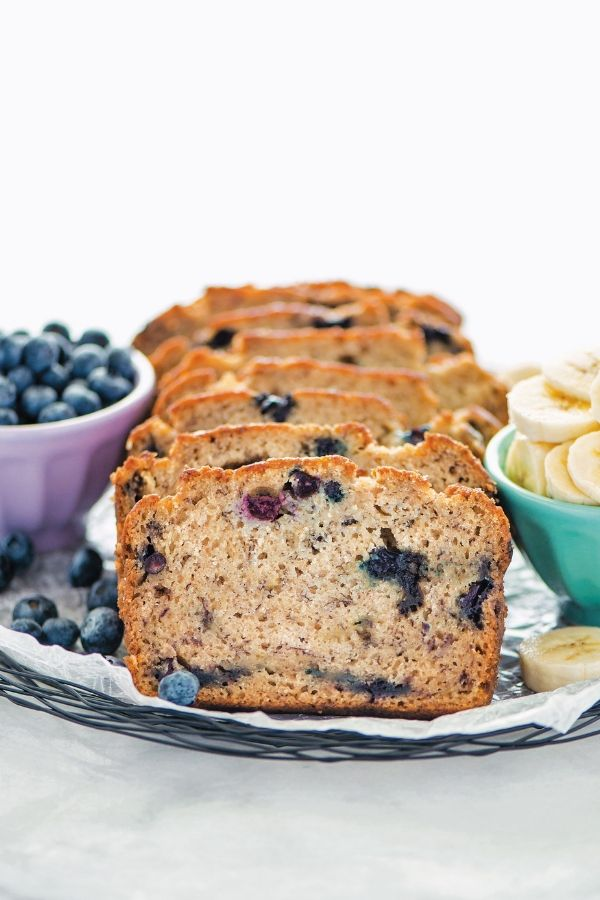 gluten free blueberry banana bread