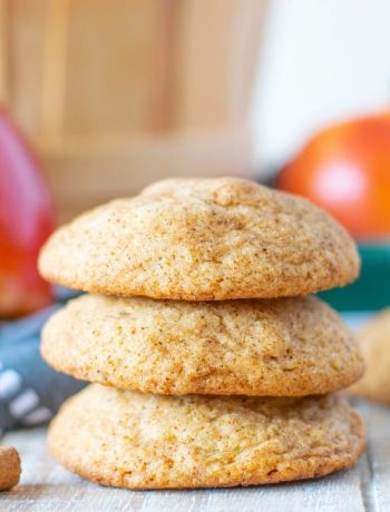 Stack of gluten free apple spice snickerdoodles