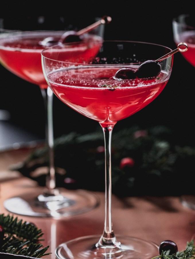 Cranberry Thyme Keto Spritz