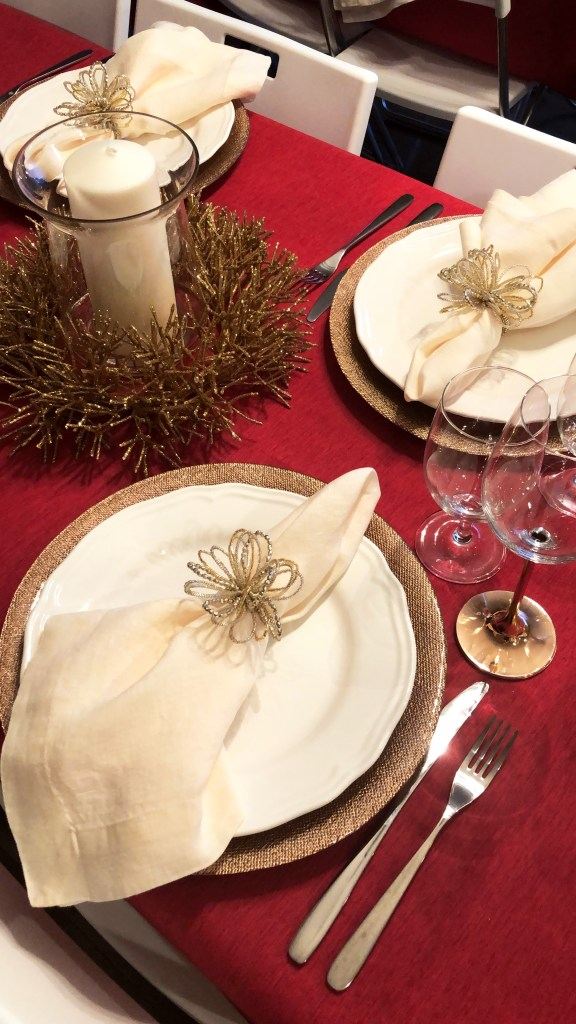 Keto Christmas Dinner Party table scape