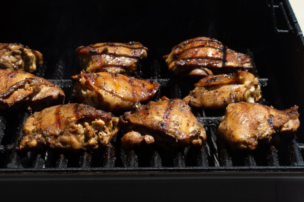 Keto Jamaican Jerk Chicken on the grill