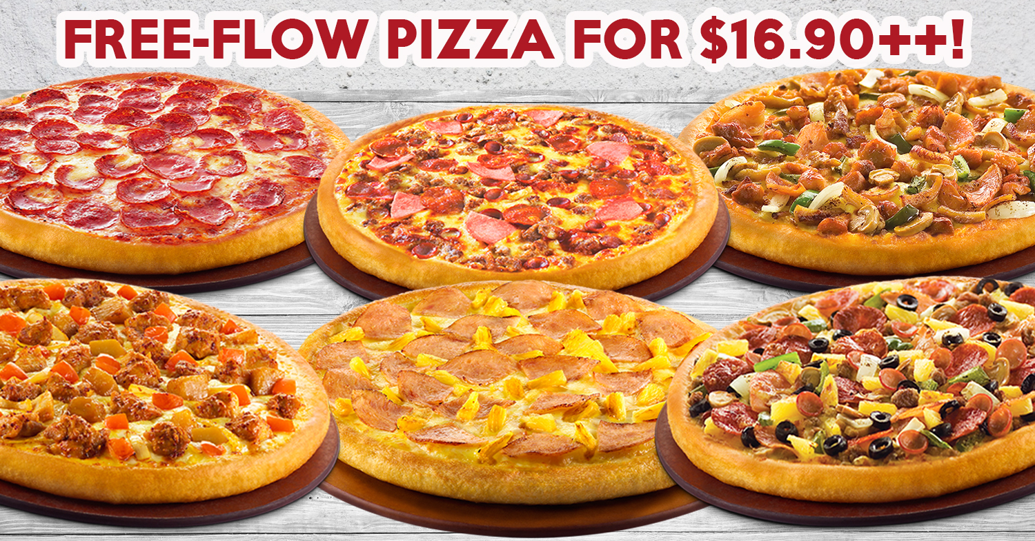 All-You-Can-Eat Pizza Buffet At Pizza Hut At $16.90++ From 17 To 28 April 2017