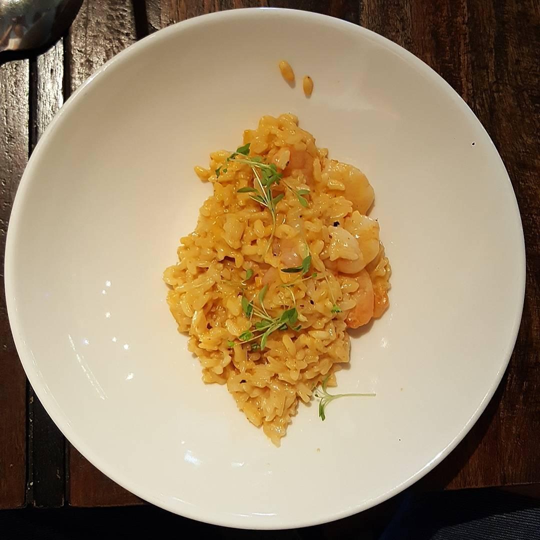 unique risotto - sambal prawn risotto
