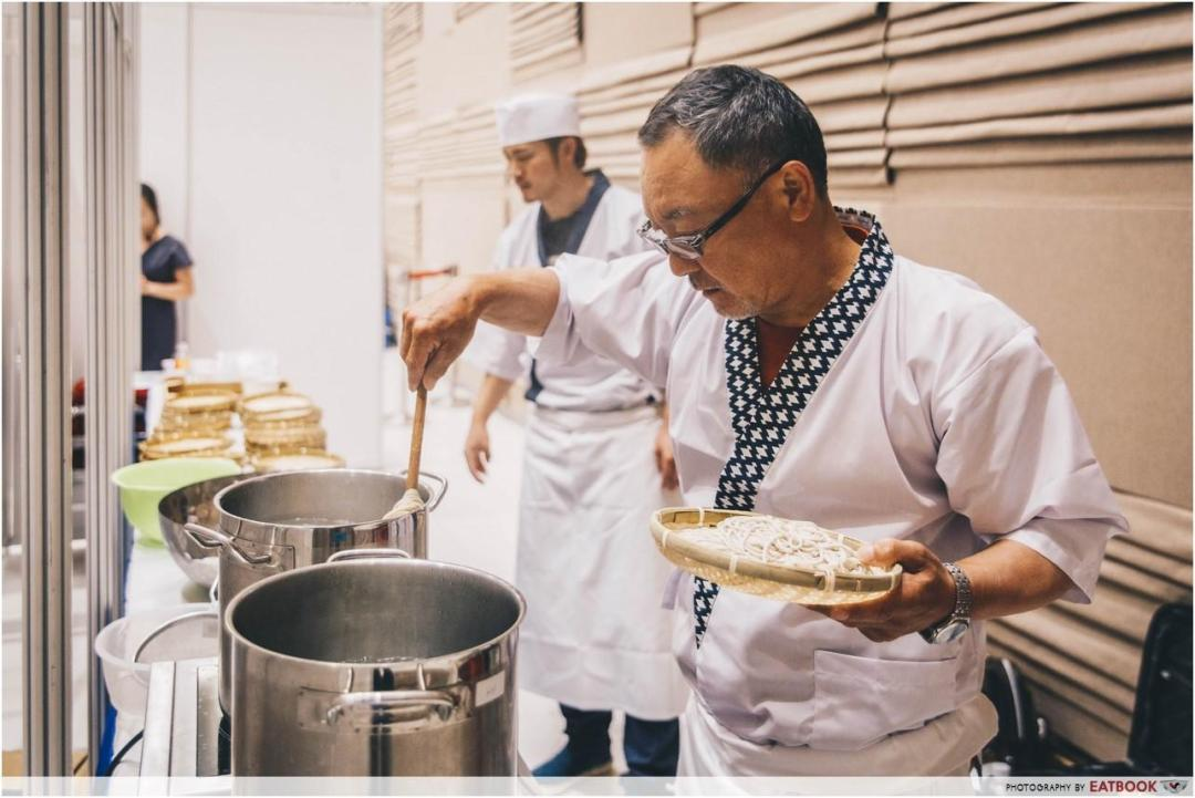 japanese soba - cooking soba