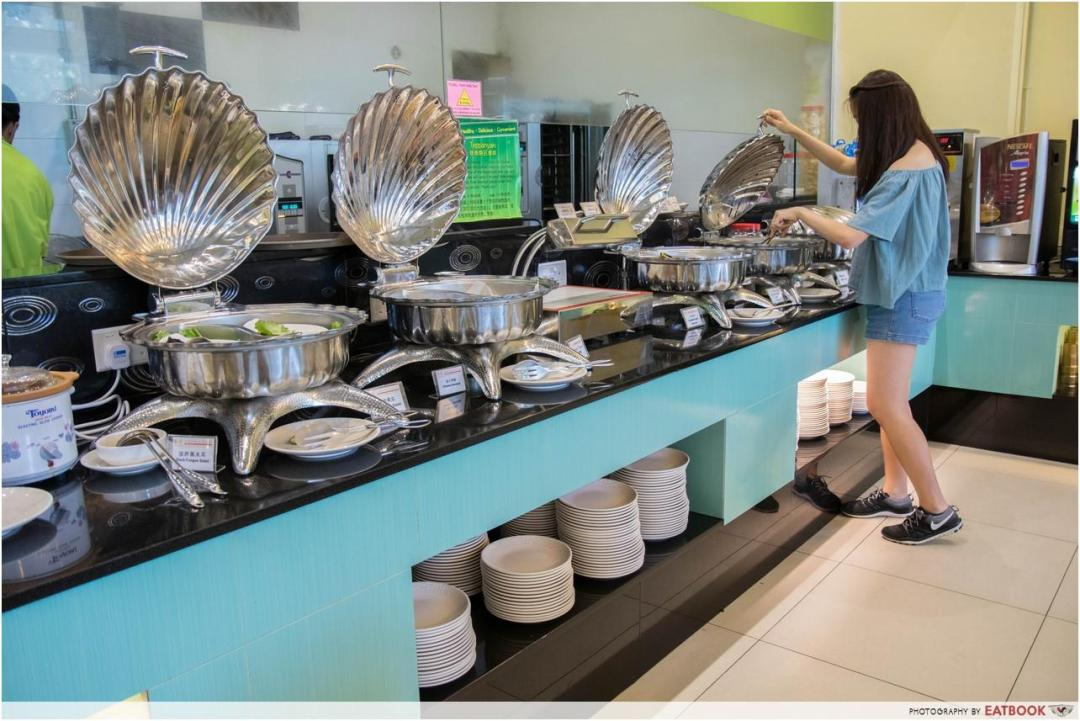 one more steamboat - buffet line