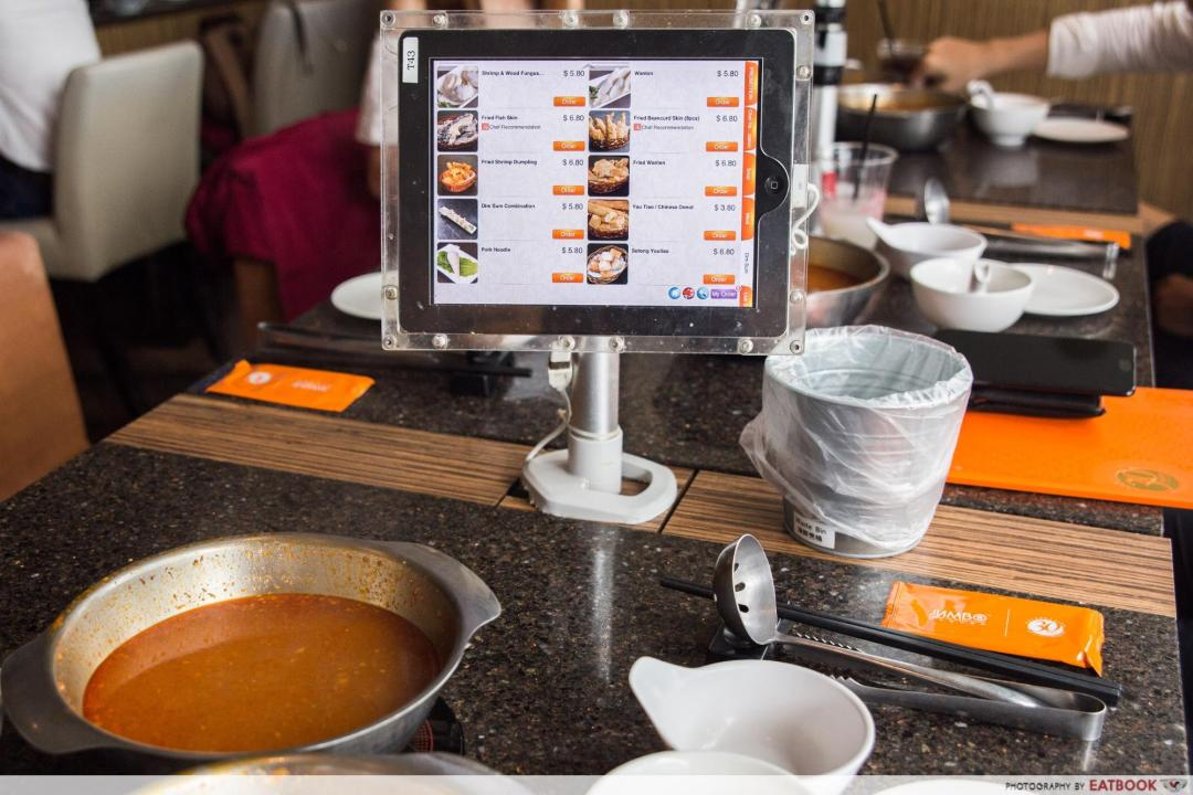 Chilli crab steamboat - ipad