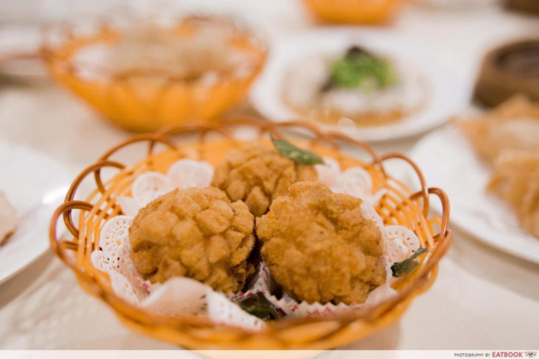 Yum Cha - salted egg prawn balls