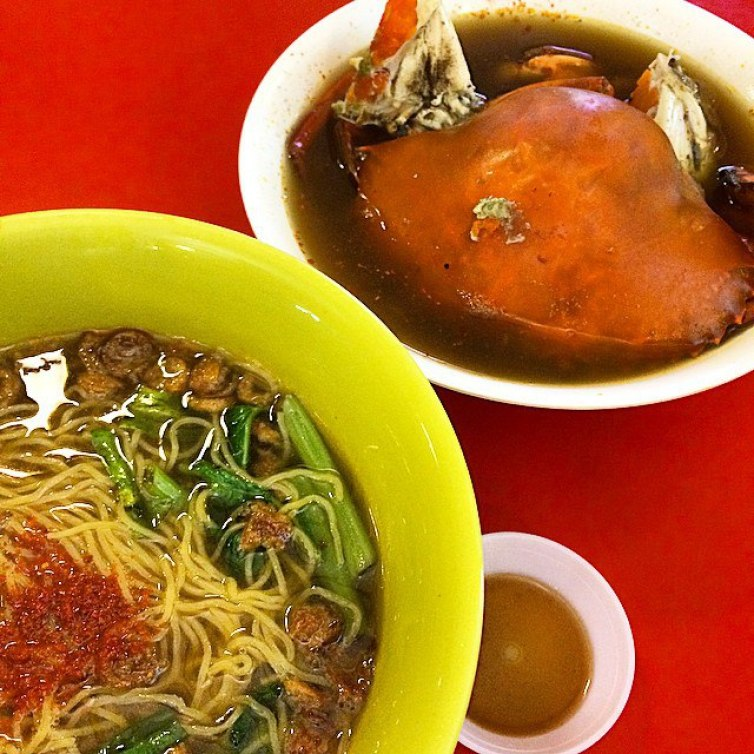 next-level prawn mee - crab noodles