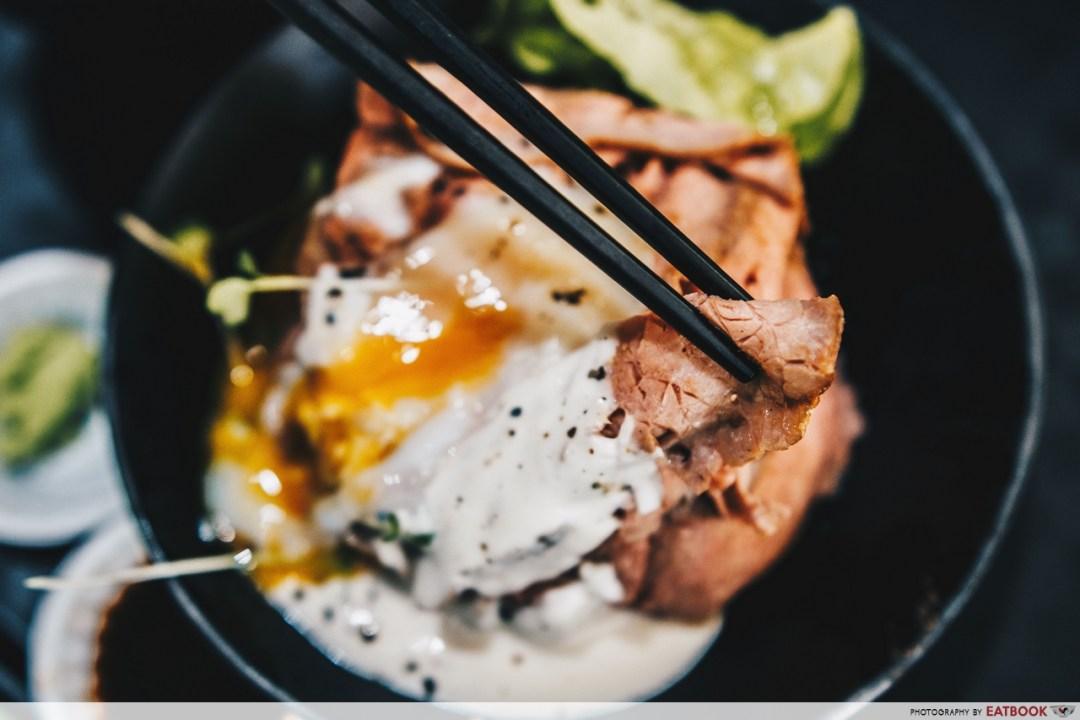 Gyu Nami - beef close up