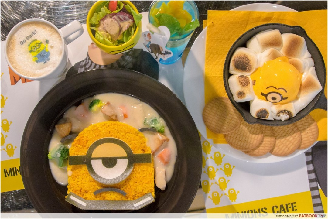 Minions Cafe review - Flatlay
