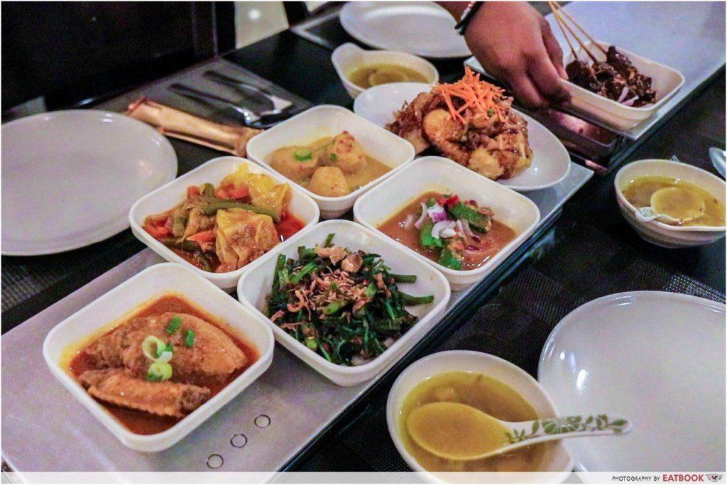 halal buffets- rice table