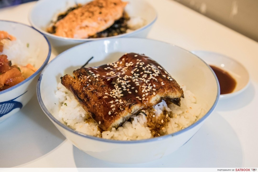 district sushi - unagi don