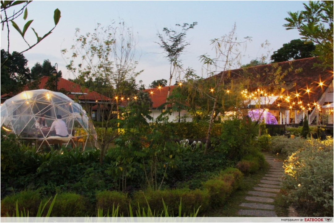 The Summerhouse - igloo domes sunset