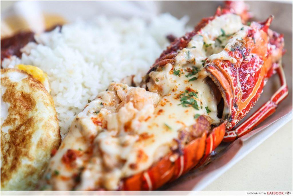 Singapore Hawker Food - Lobster Nasi Lemak