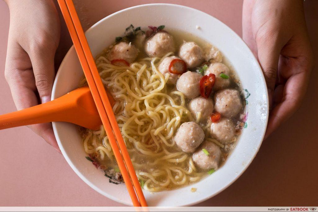 Singapore Hawker Food - Soup Bak Chor Mee