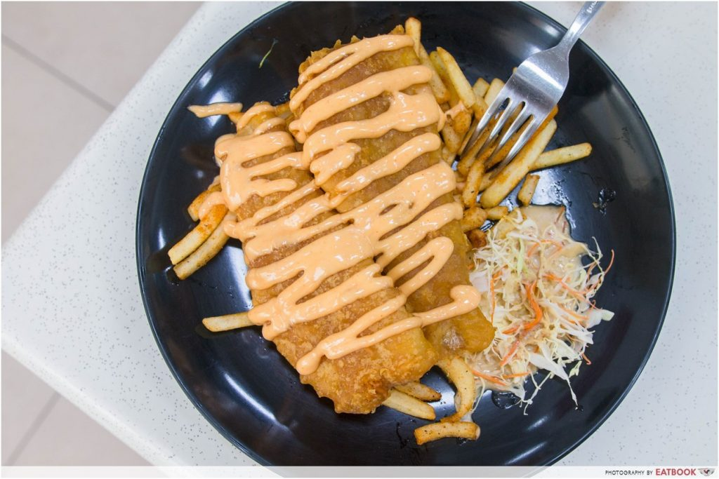 mentaiko dishes - fish and chips