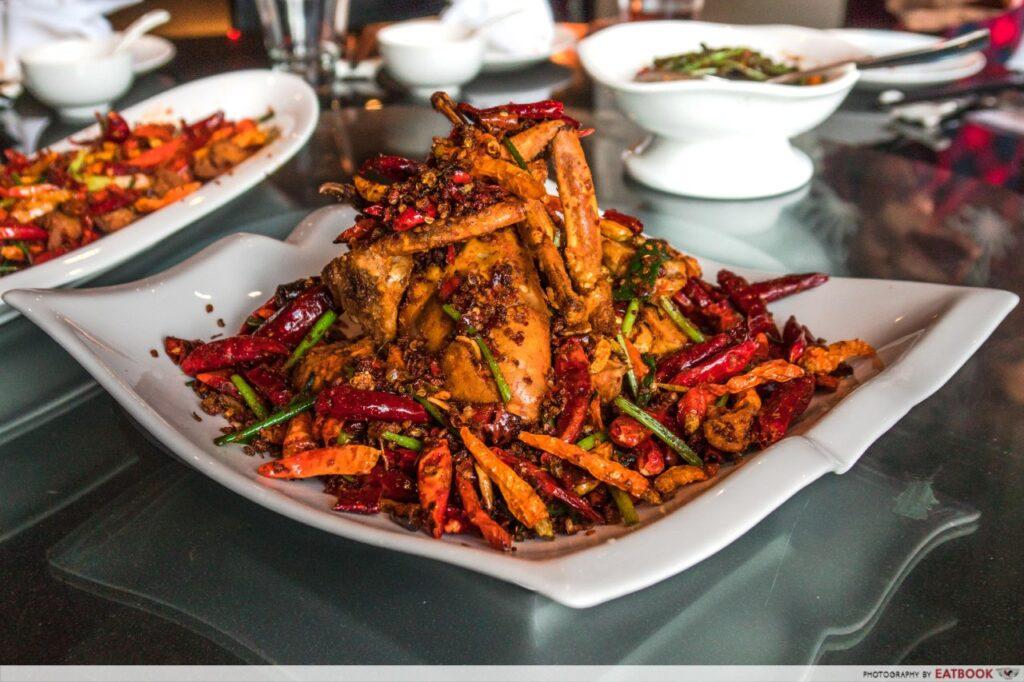 Qi House of Sichuan Chili Fried Sri Lanka Crab