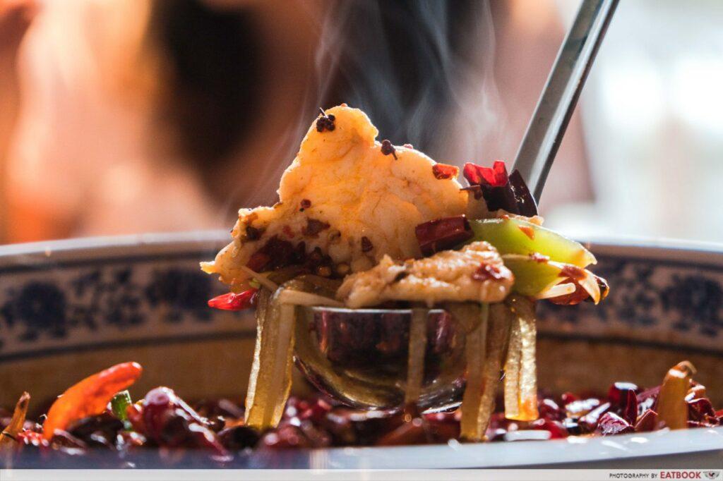Qi House of Sichuan Fish Fillet Chilli Oil Soup