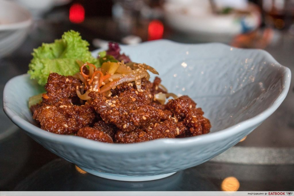 Qi House of Sichuan Sugar Glazed Ginger and Scallion Beef