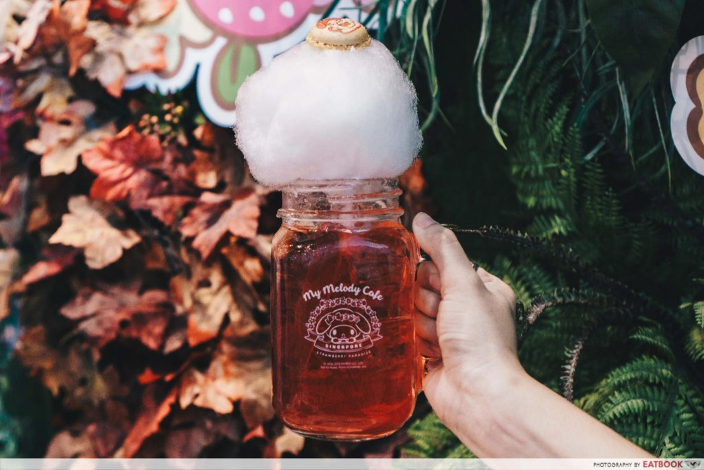 My Melody Cafe - cotton candy drink