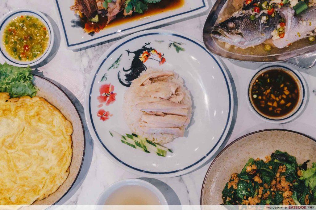 Bangkok Chicken Rice - Flatlay