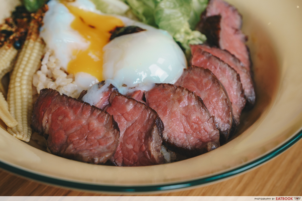 Grids and Circles beef bowl