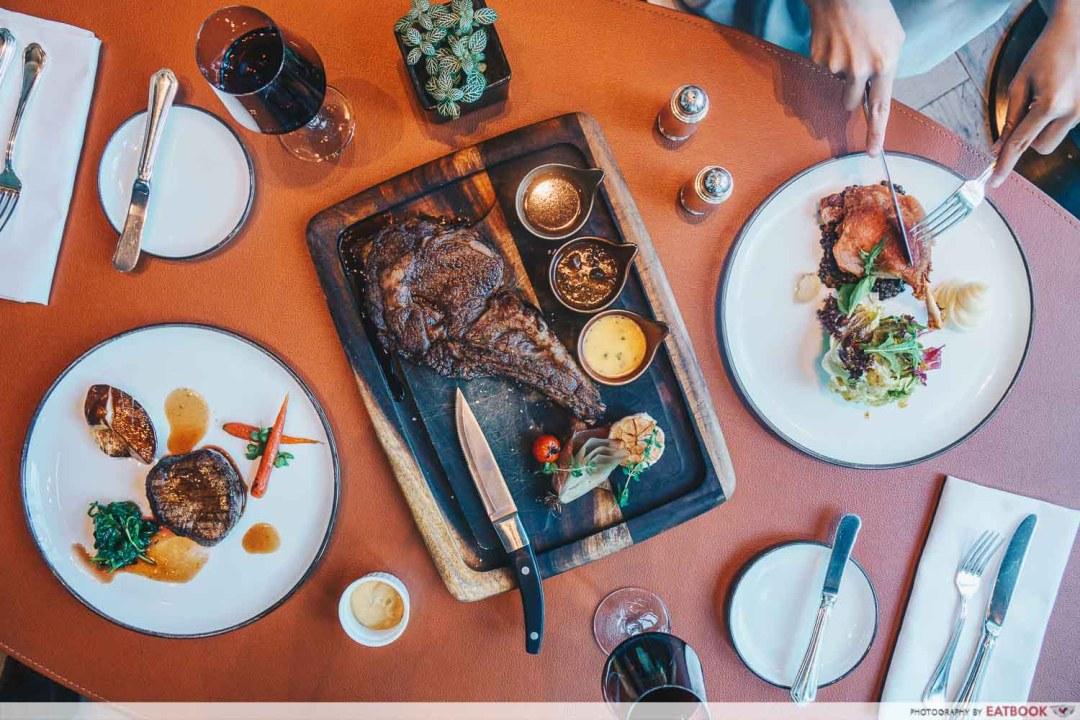 Meat Restaurant La Brasserie The Fullerton Bay Hotel Singapore
