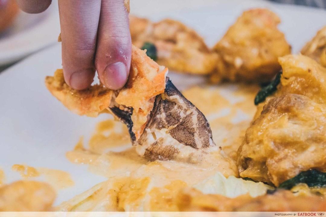 Crab At Bay - Salted Egg Crab Interaction Shot