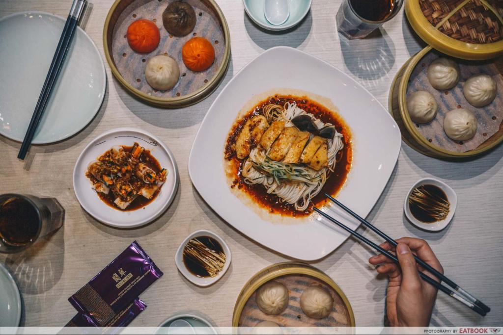 Ma La Restaurants in Town crystal jade la mian xiao long bao spread