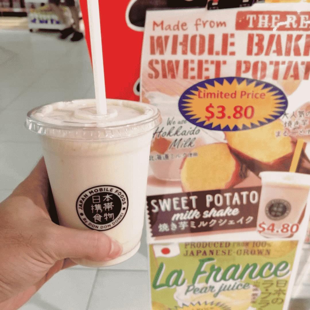 Don Don Donki - Sweet potato milkshake
