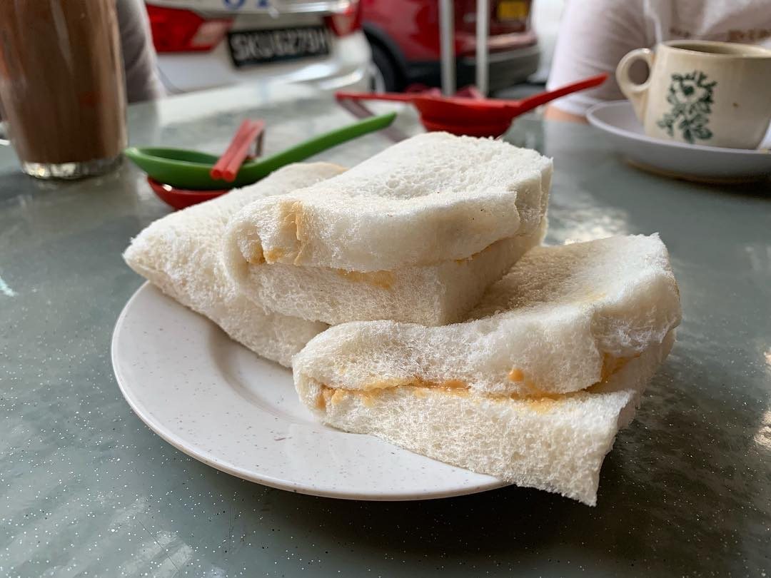 Old School Kaya Toast - Seng Hong Coffeeshop