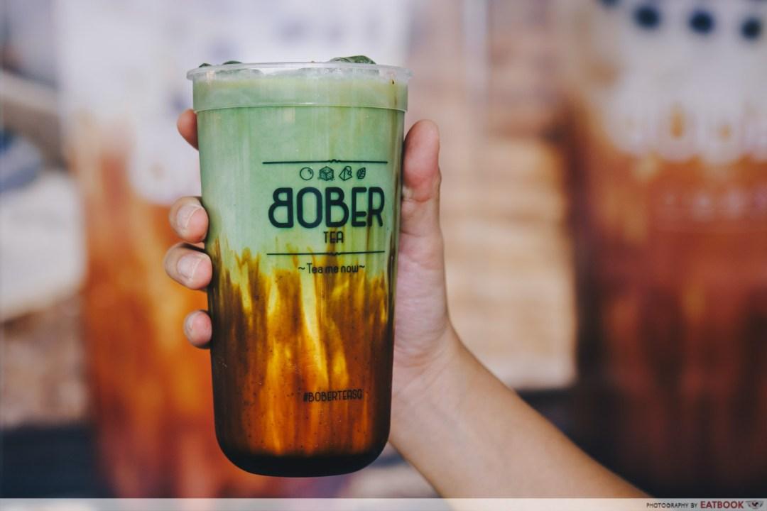 Bober Tea - Brown Sugar Boba Matcha Latte