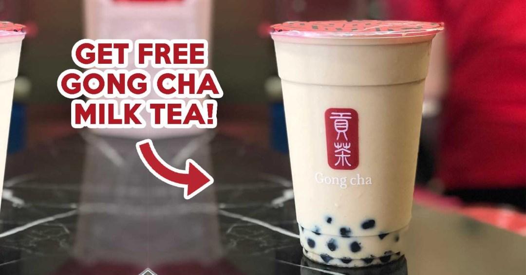 FREE GONG CHA MILK TEA
