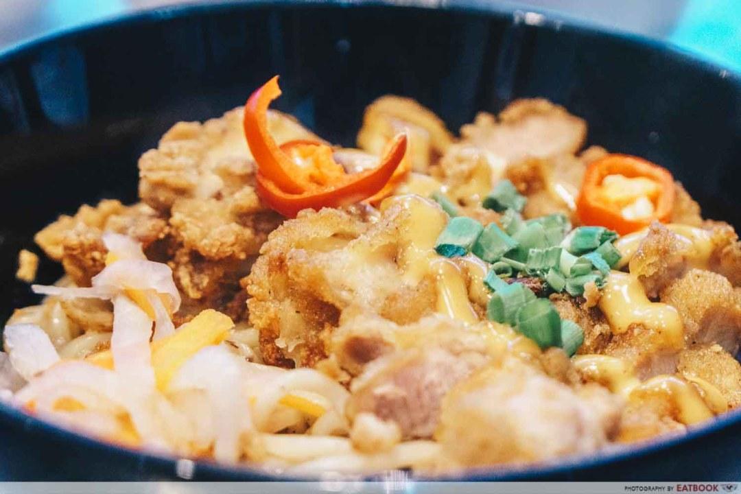 Hua Yi Kitchen - Chicken Cutlet Sauce Closeup