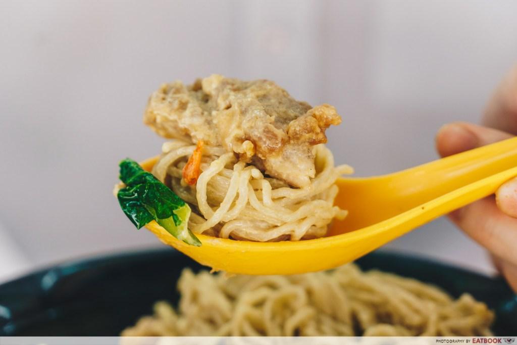 Tay Kee Noodle House Salted Egg Yolk Chicken Cutlet Noodle