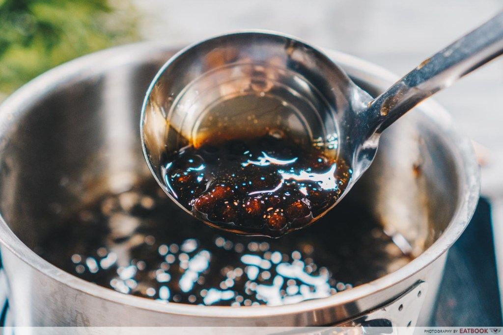 Brown Sugar Fresh Milk Recipe scoop with pearl