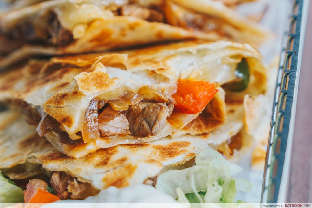 Jalapeno South West beef quesadilla meat