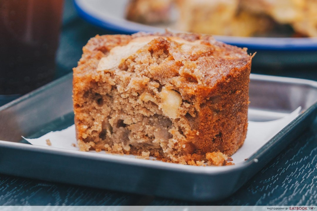 Micro Bakery and Kitchen spiced apple miso cake interior