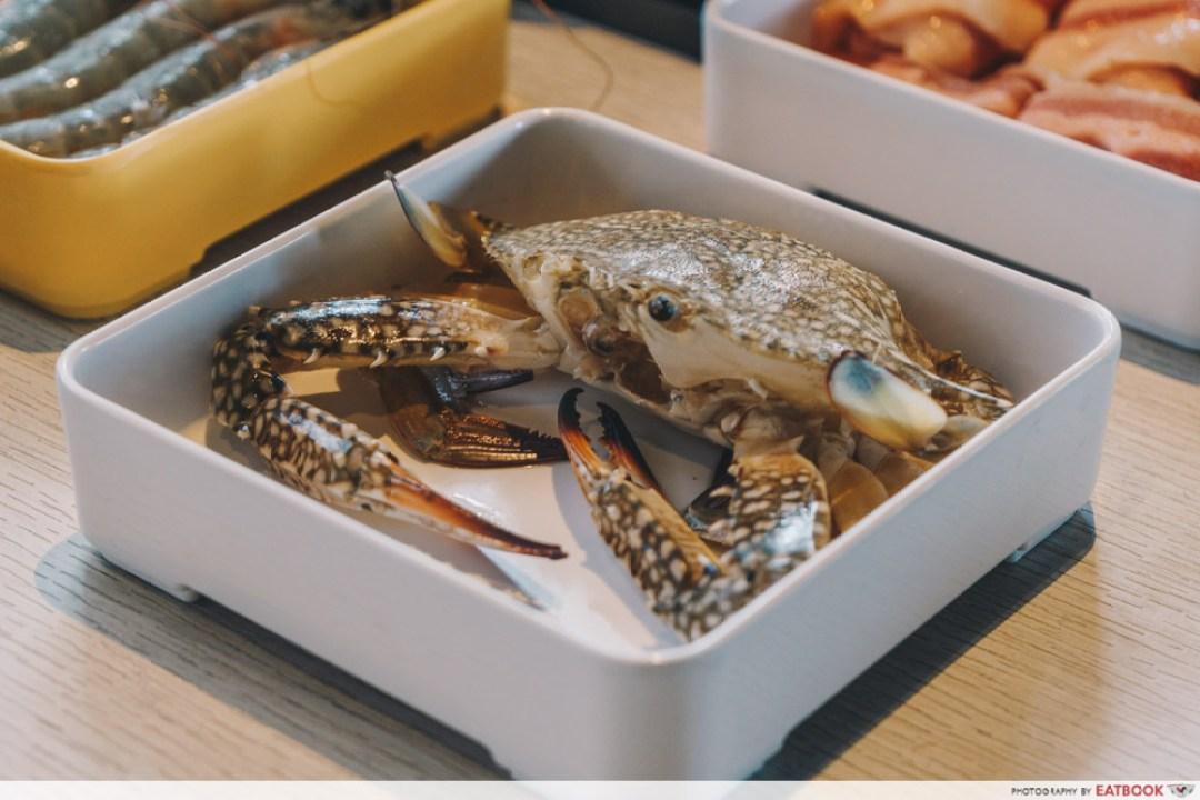 Sedap Mania - flower crab on white plate
