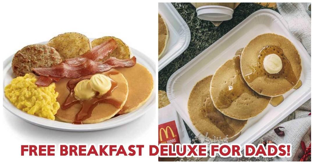 Free mcdonalds breakfast dad