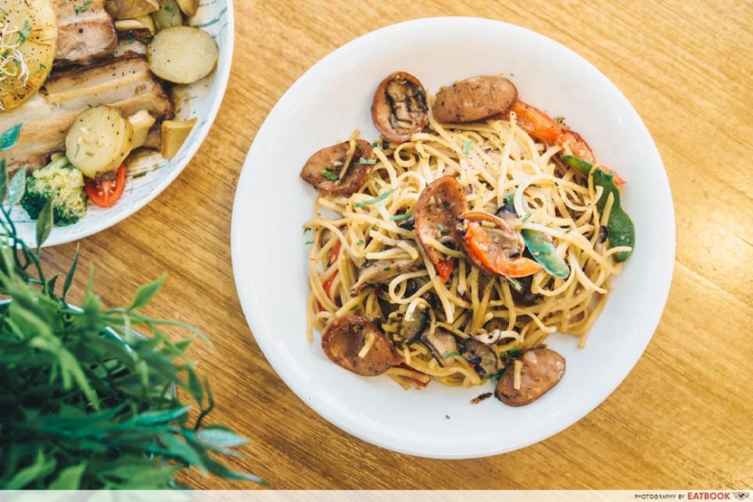 Hunger's Kitchen - Chorizo Aglio Olio